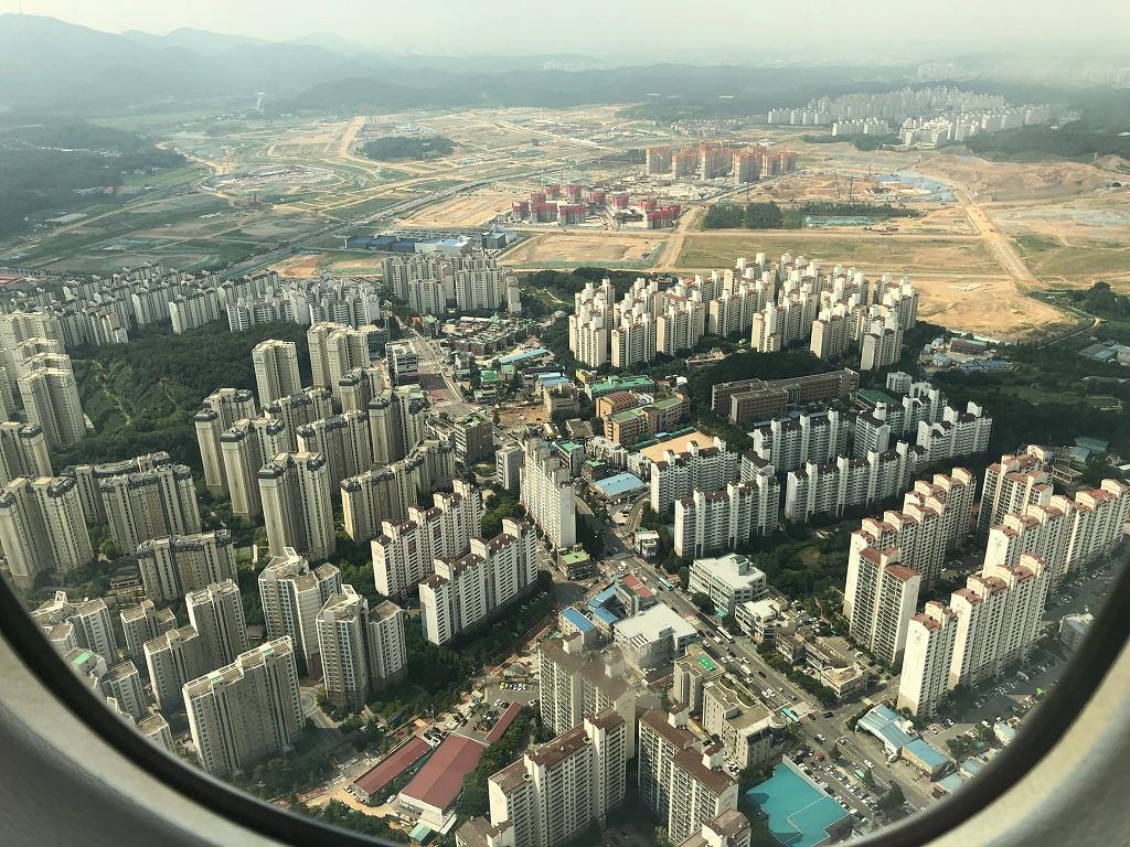 ANA861便から見た金浦空港上空2