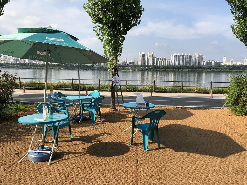蚕室漢江公園でチメク1