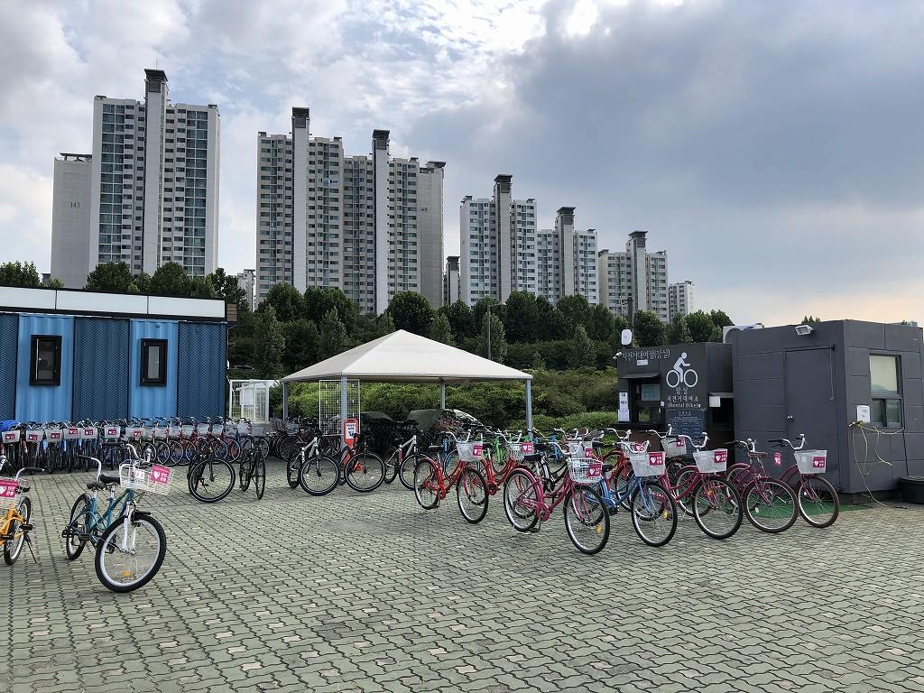 蚕室漢江公園のレンタサイクル