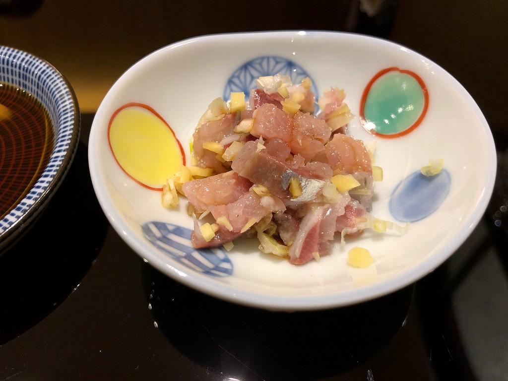 ソウルの「鮨 海信」のイワシのたたき