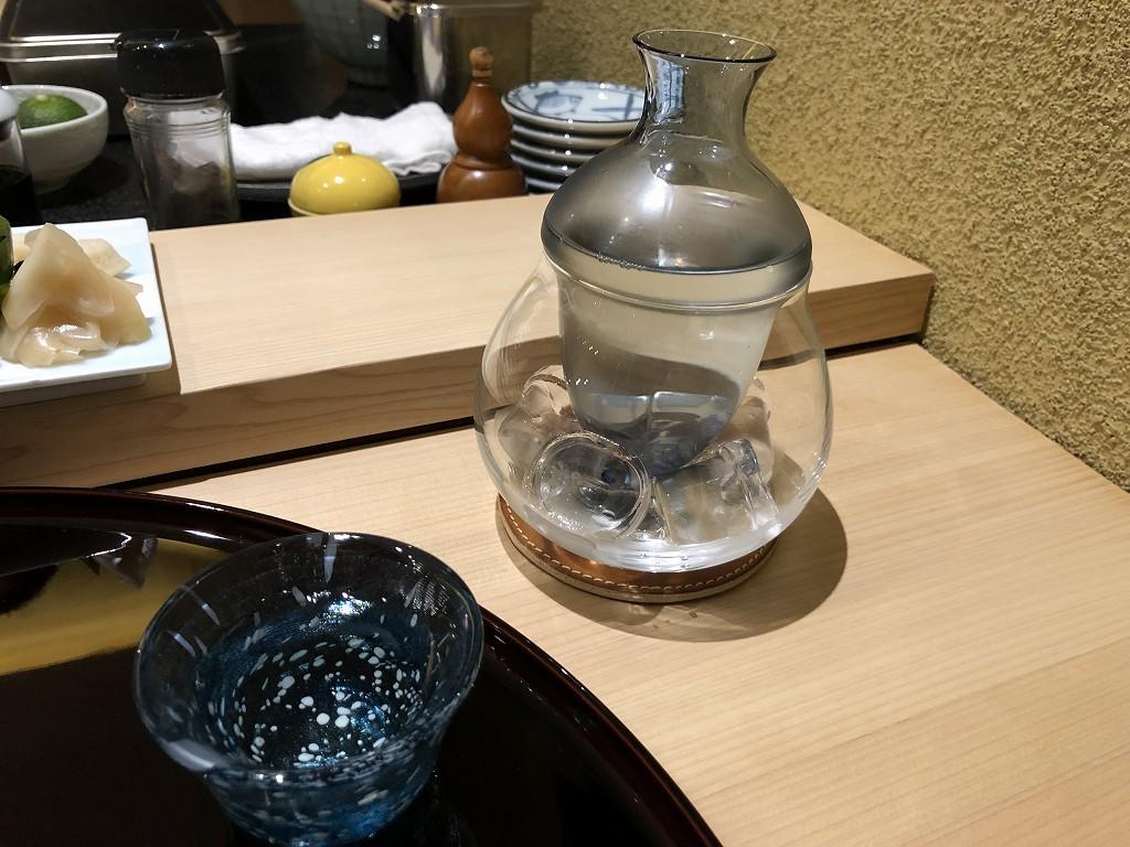 ソウルの「鮨 海信」の浦霞