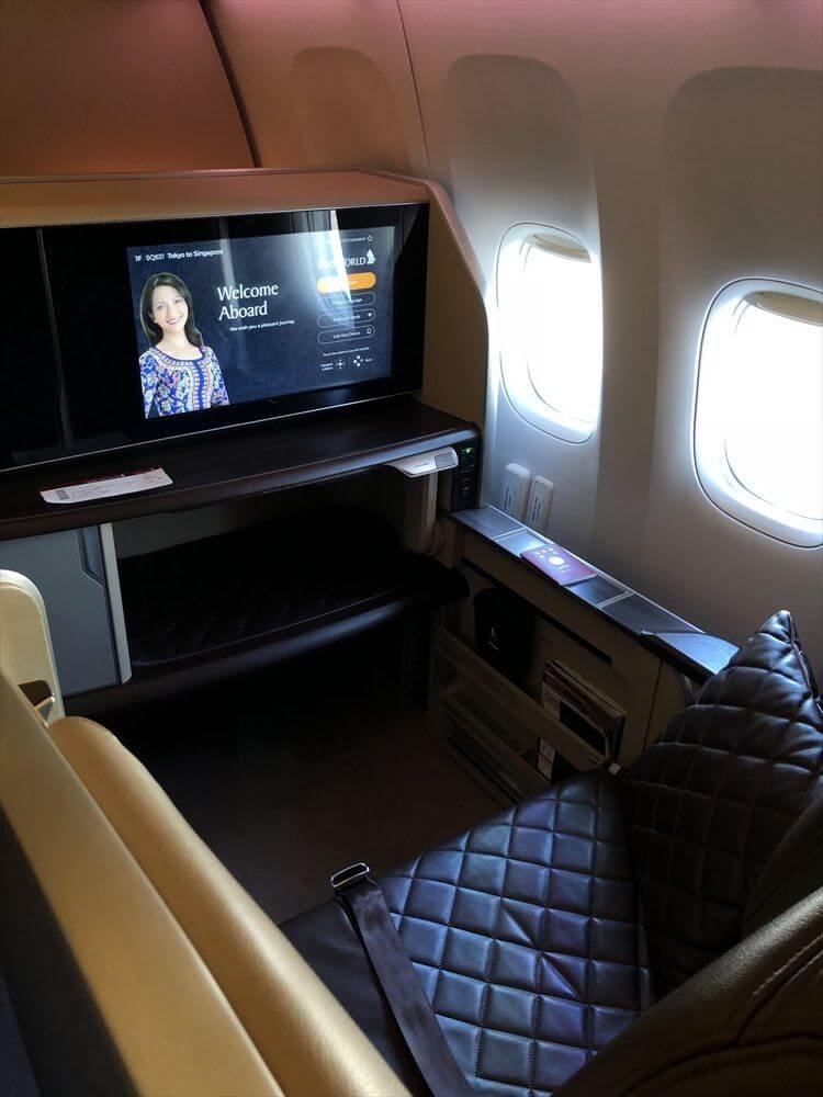 シンガポール航空のB777のファーストクラス座席3