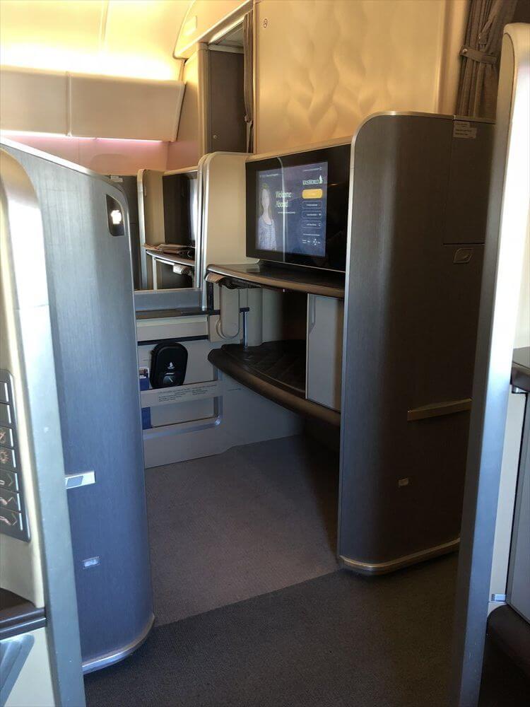 シンガポール航空のB777のファーストクラス座席4