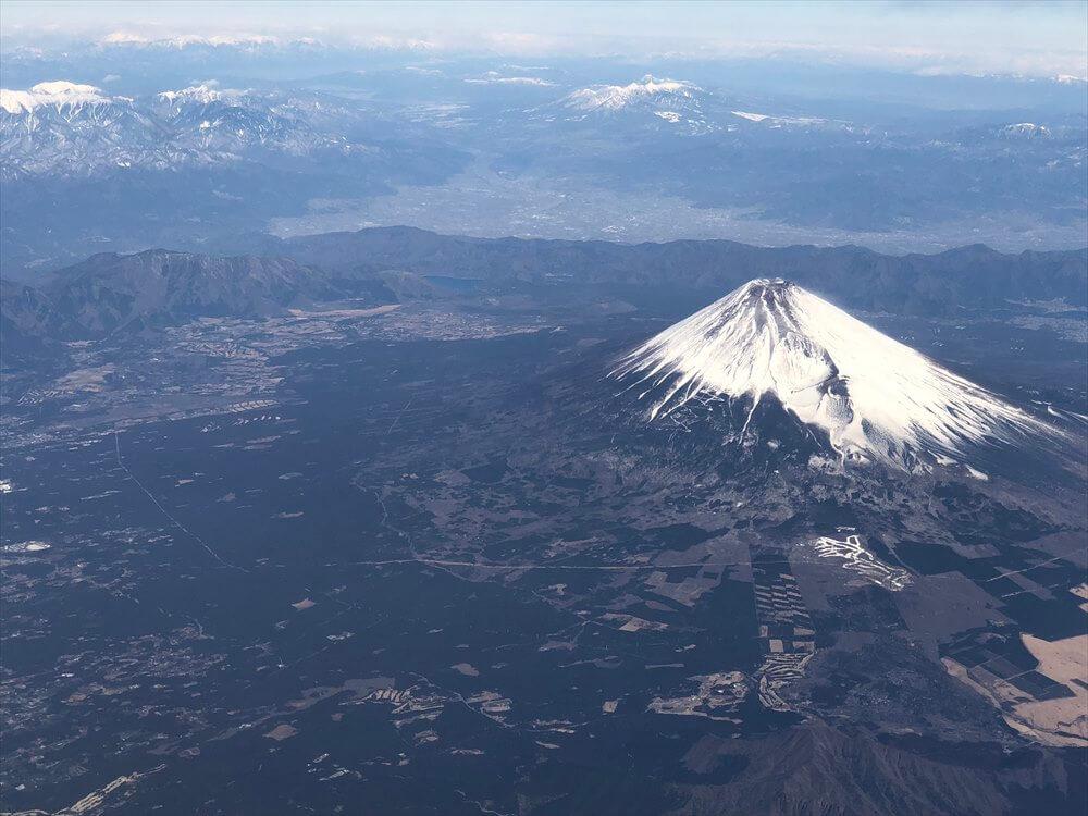 SQ631便からの富士山