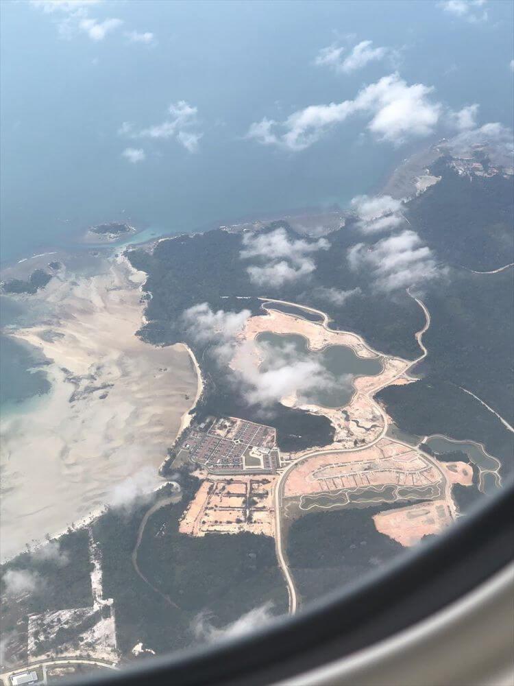 SQ631便からビンタン島