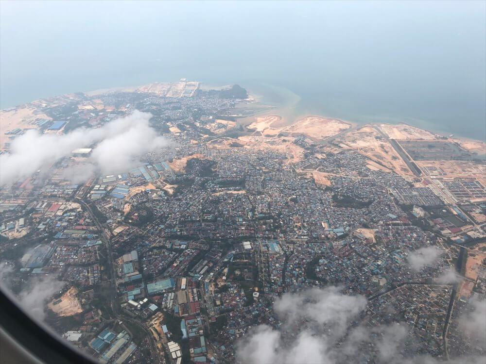 SQ631便からバダム島