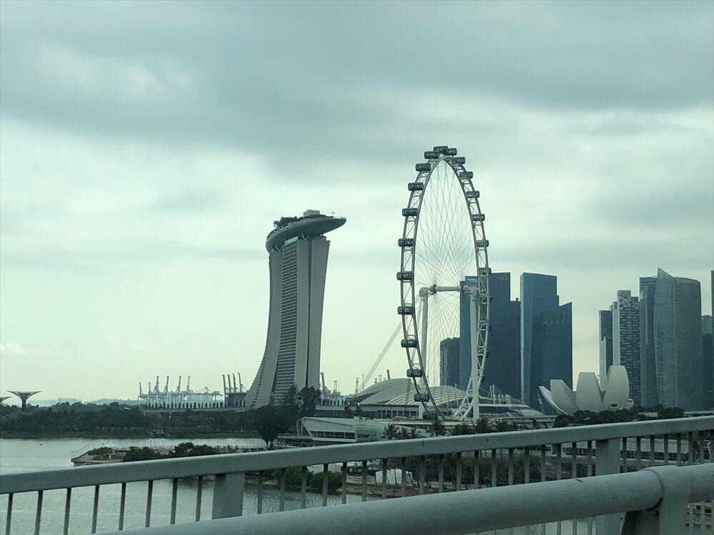 マリーナベイサンズとシンガポールフライヤー