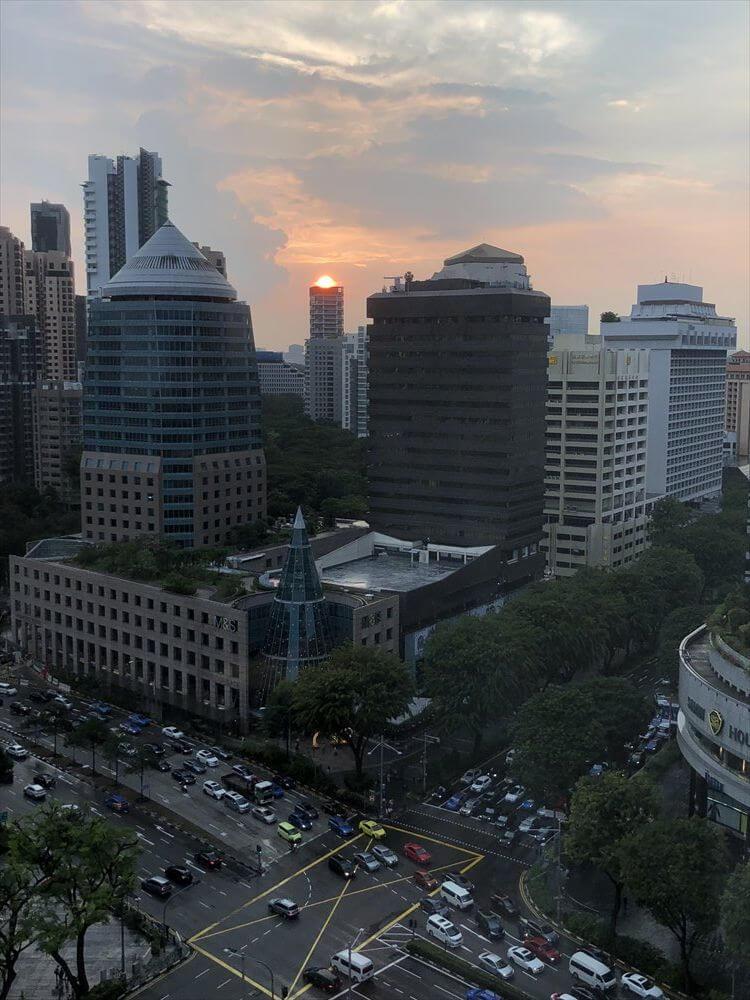 シンガポールの夕焼け