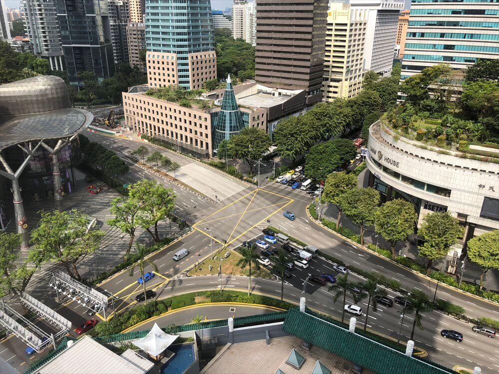 シンガポール マリオット タン プラザ ホテルからの眺め(朝)