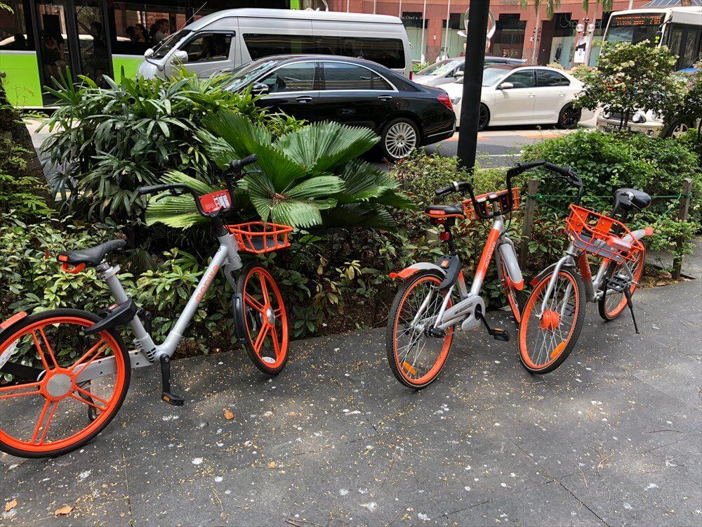 シンガポールのMOBIKEのシェアバイク2