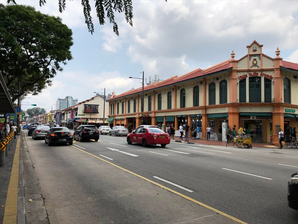 シンガポールのリトルインディアの街並み1