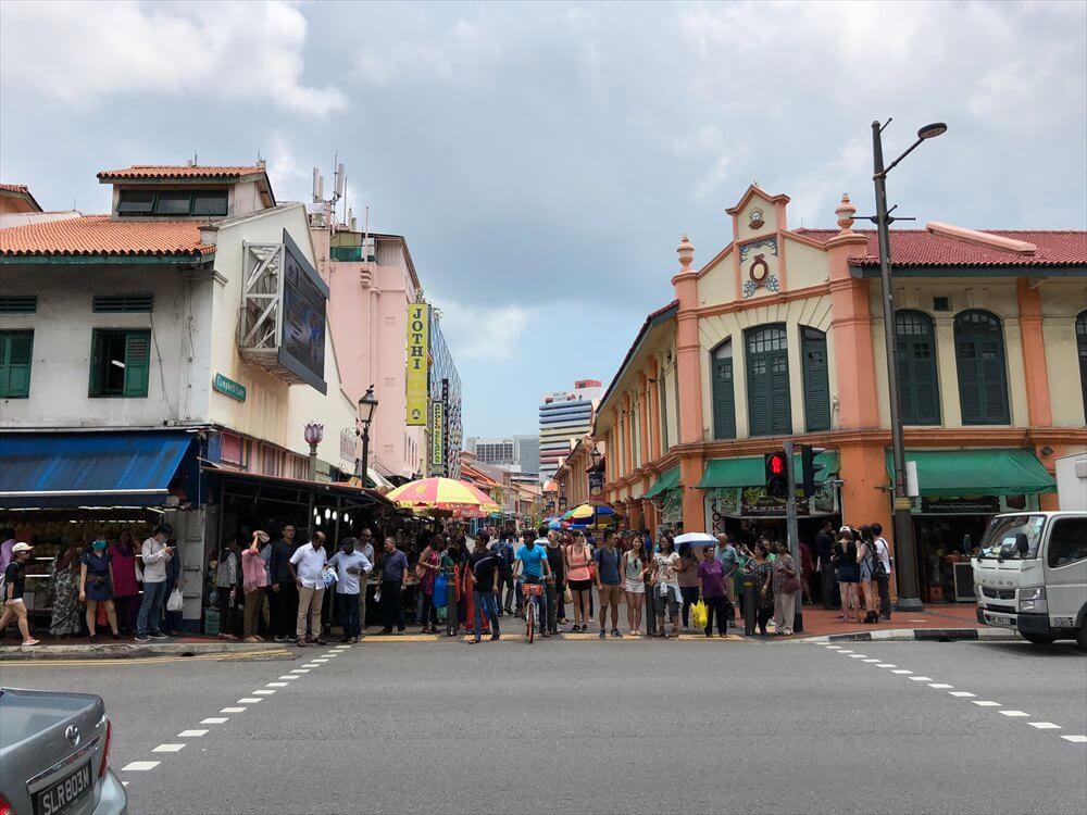 シンガポールのリトルインディアの町並み2