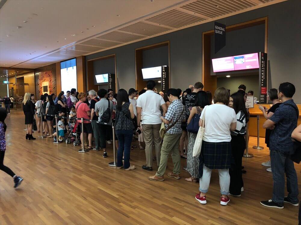 ナショナル・ギャラリー・シンガポールのチケット売り場