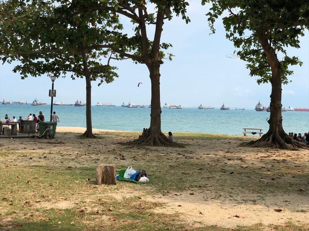 East Coast Parkからシンガポール海峡1