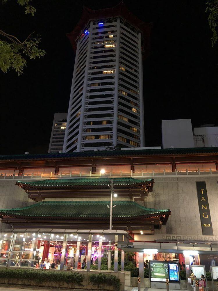 夜のシンガポール マリオット タン プラザ ホテル