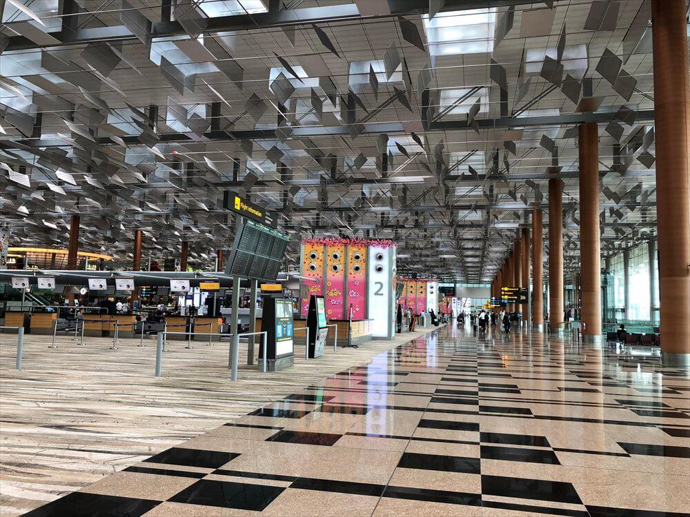 チャンギ空港の広い空間