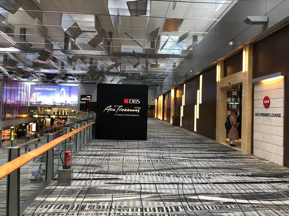 チャンギ空港のターミナル3のSATSプレミアラウンジ