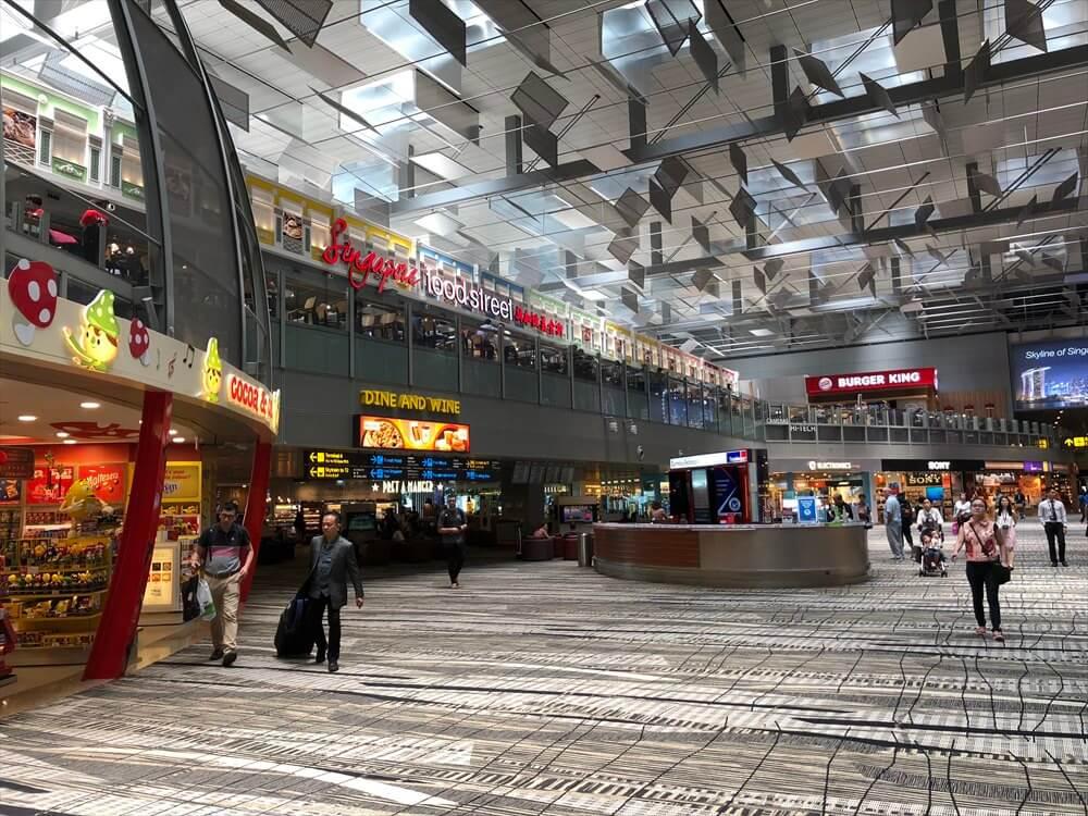 チャンギ空港のターミナル3の保安エリア3