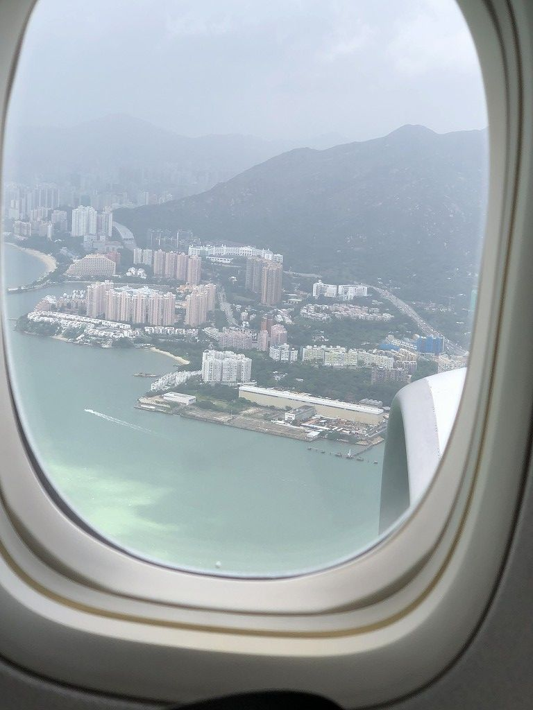 香港上空のJAL29便
