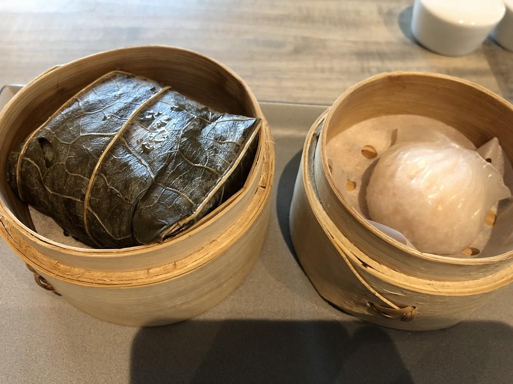 セントレジス香港の「RUN」での朝食のシュウマイ、水餃子2