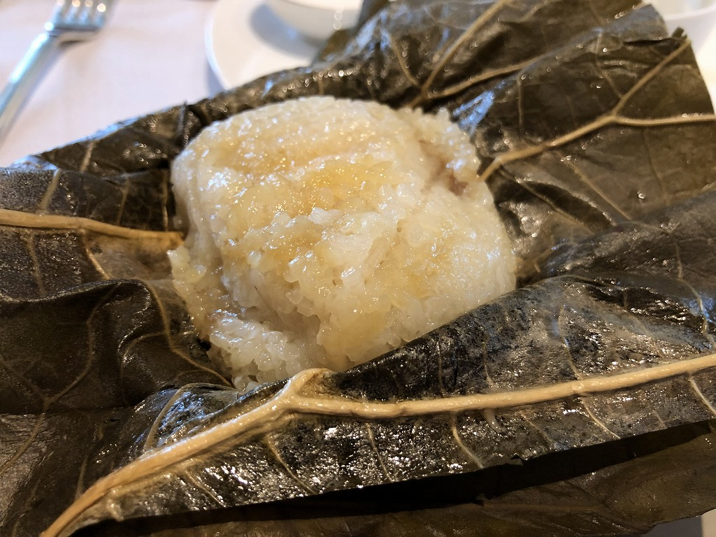 セントレジス香港の「RUN」での朝食の肉粽