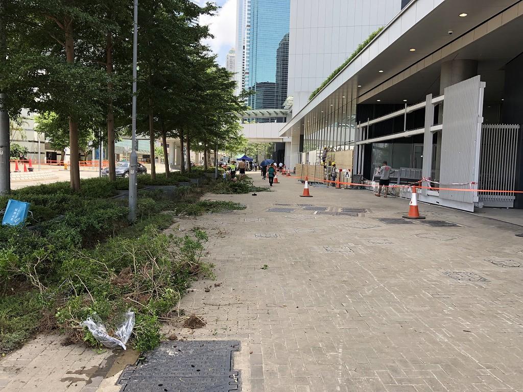 突撃された香港の立法会1