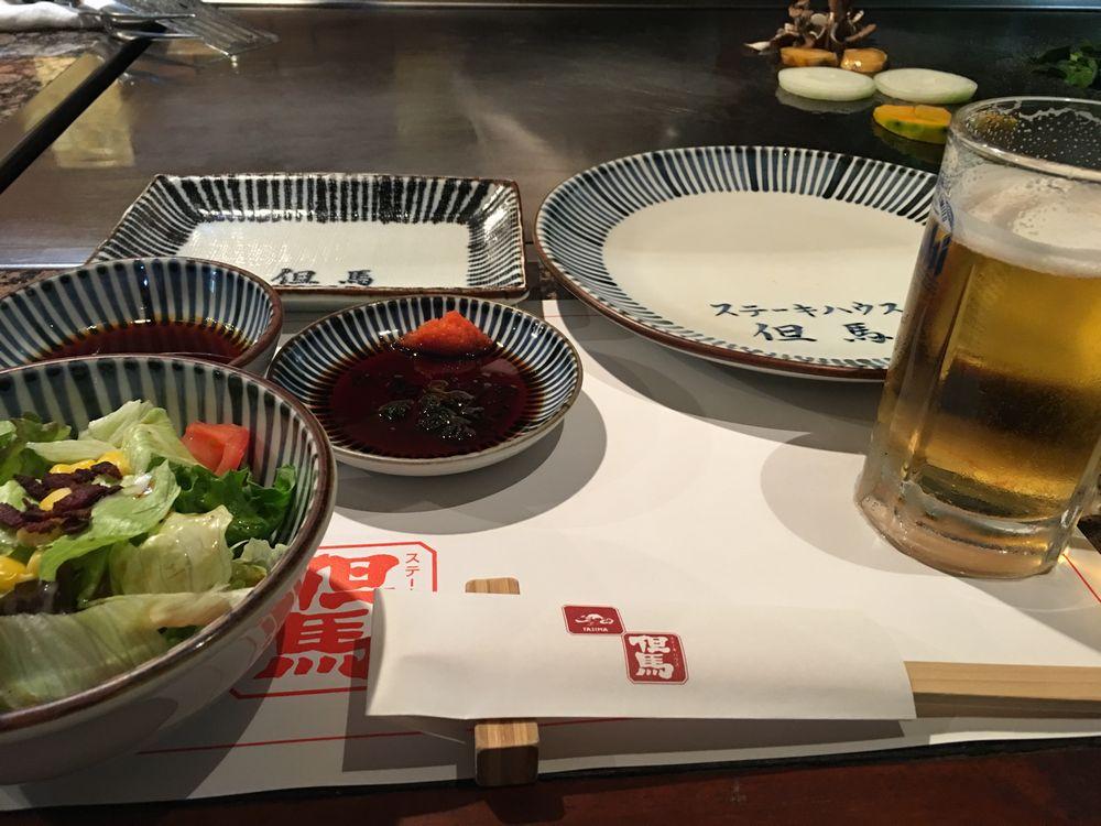 松山のステーキハウス但馬のビール