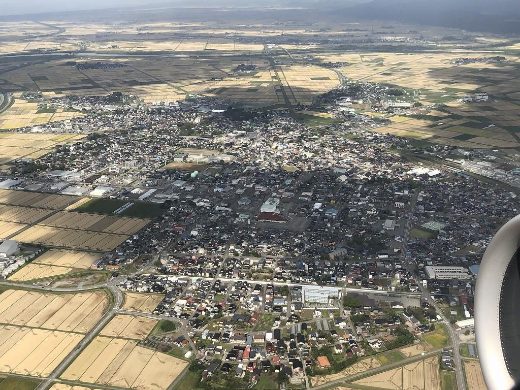 ANA395便から見た庄内町