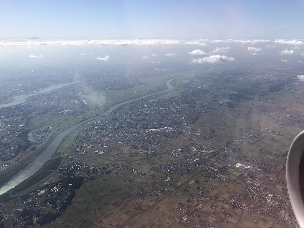 ANA398便から見た関東平野