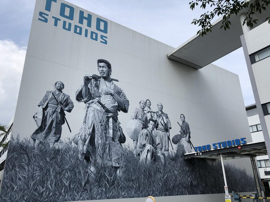 東宝スタジオの七人の侍の壁画