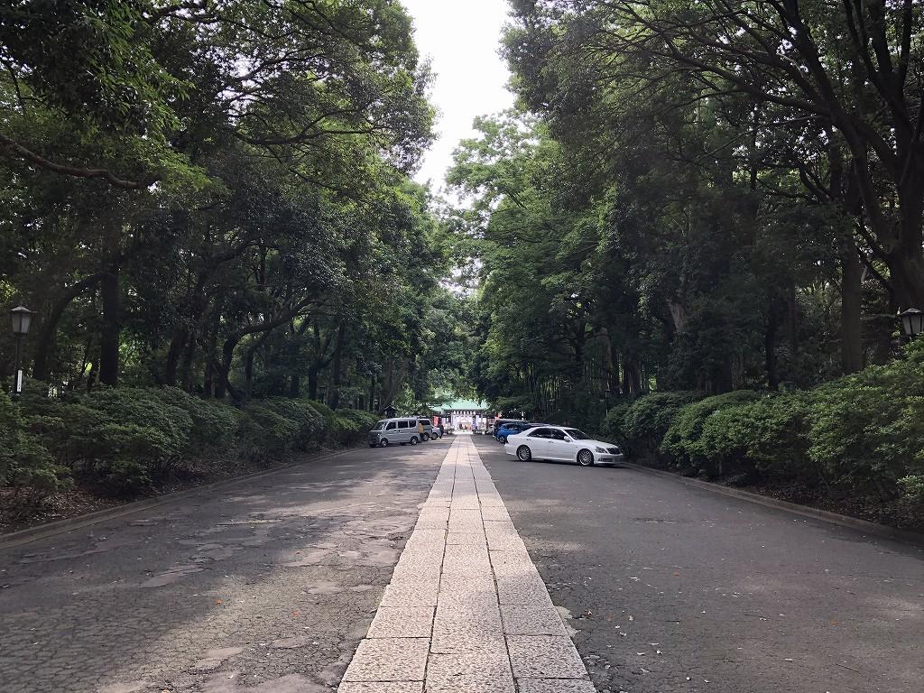 大宮八幡宮の参道