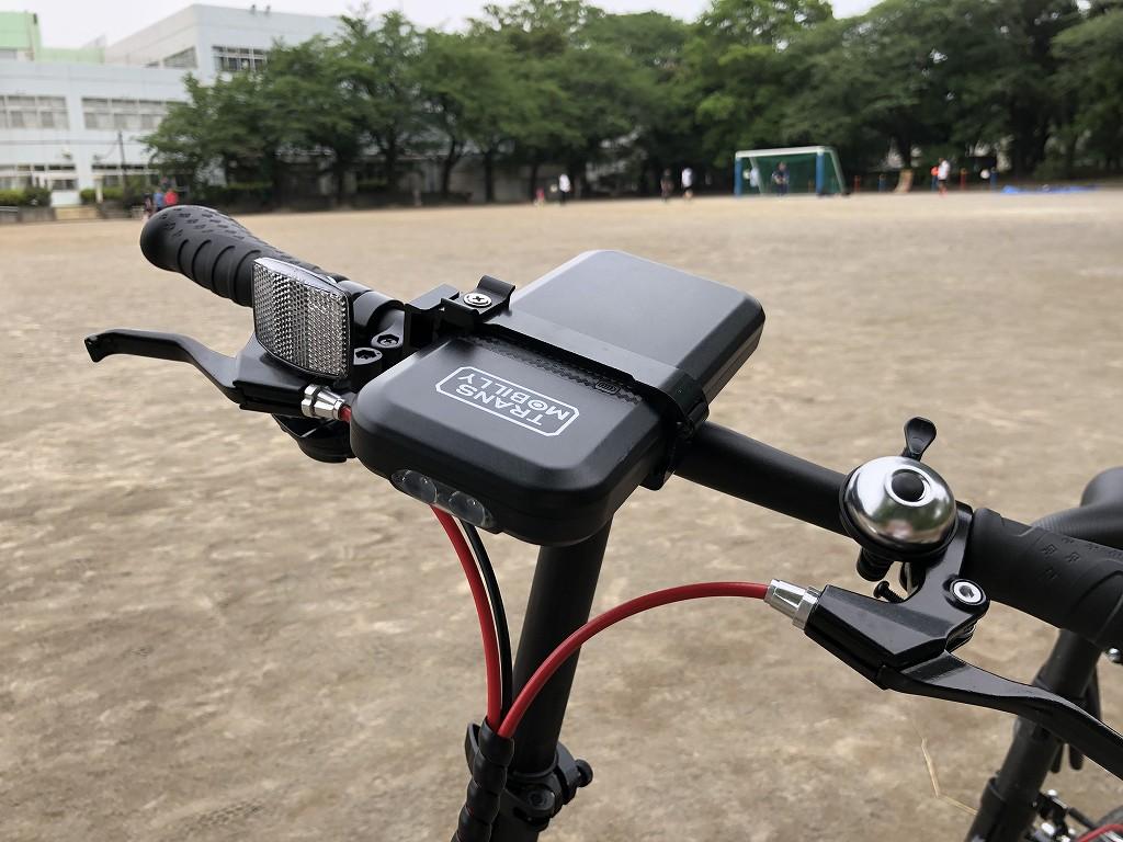トランスモバイリーのULTRA LIGHT E-BIKEのモバイルバッテリー