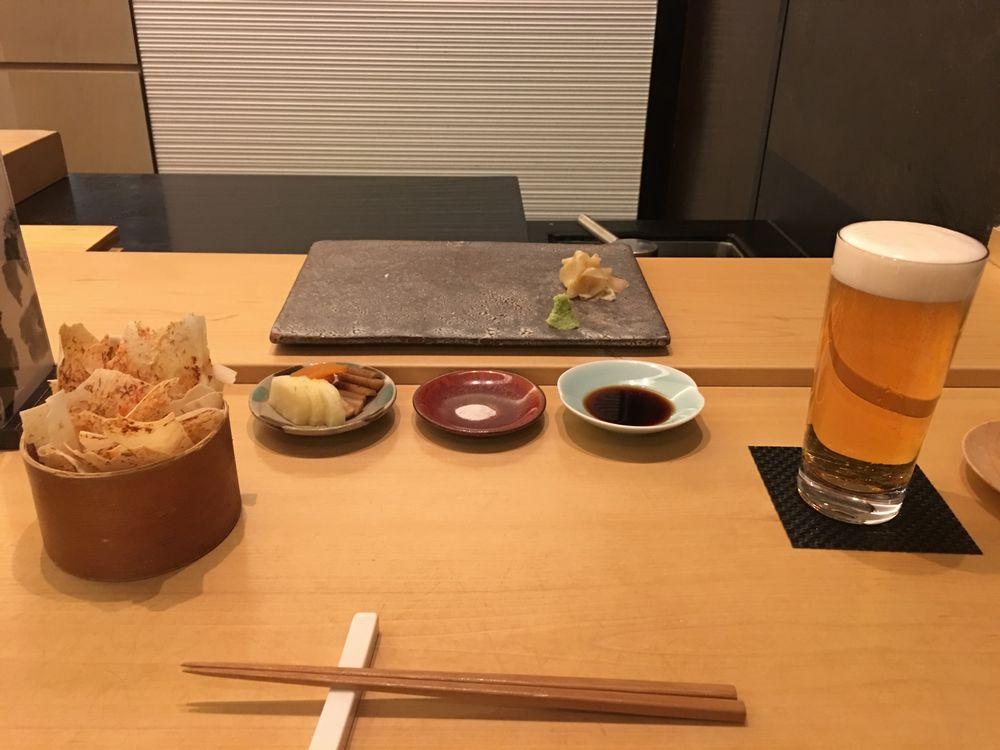 ウェスティン朝鮮ソウルの鮨朝のサッポロビール