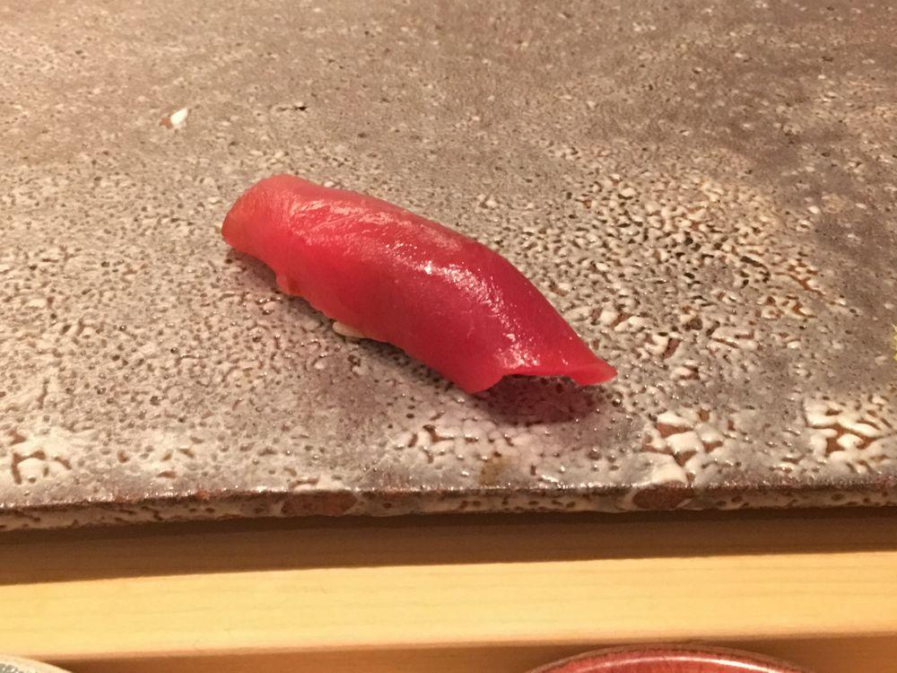 ウェスティン朝鮮ソウルの鮨朝の赤みの握り