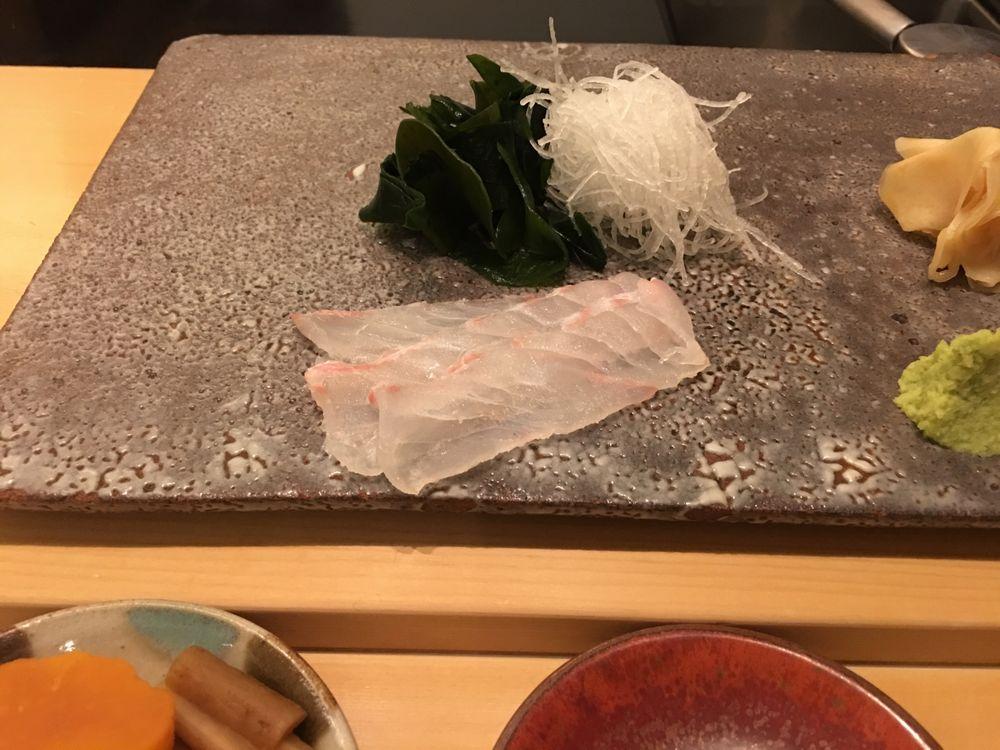 ウェスティン朝鮮ソウルの鮨朝のヒラメ