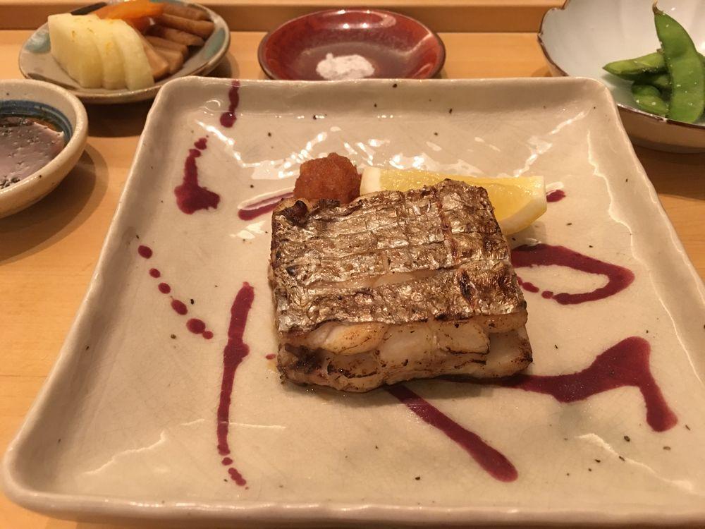 ウェスティン朝鮮ソウルの鮨朝の太刀魚の塩焼き