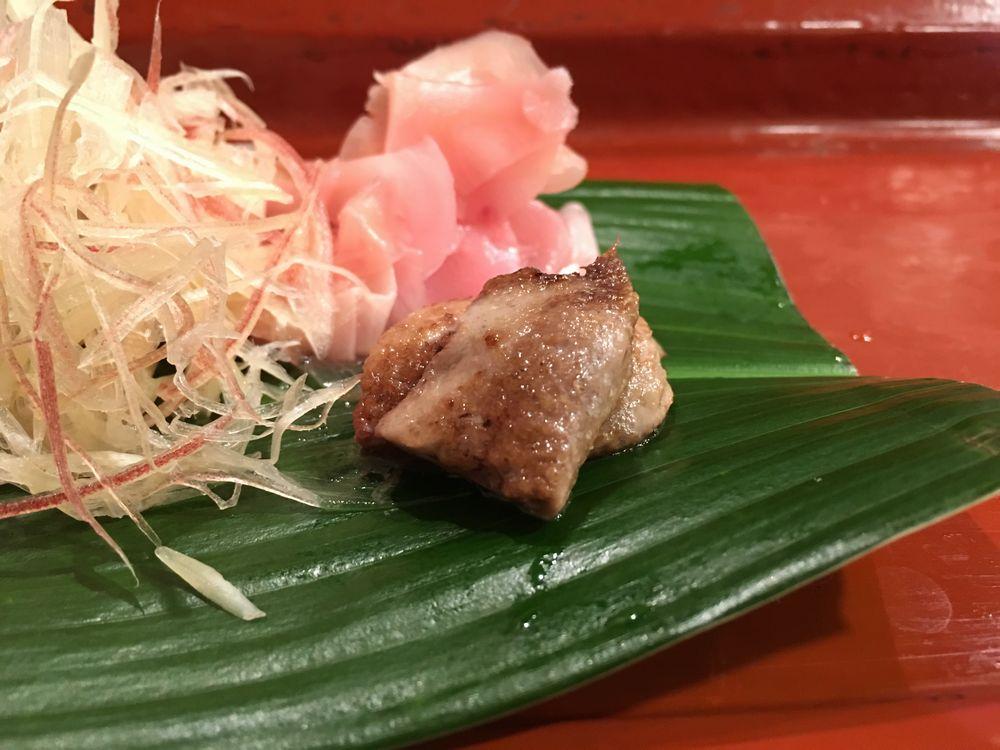 寿司 花一のアカミズの肝炙り