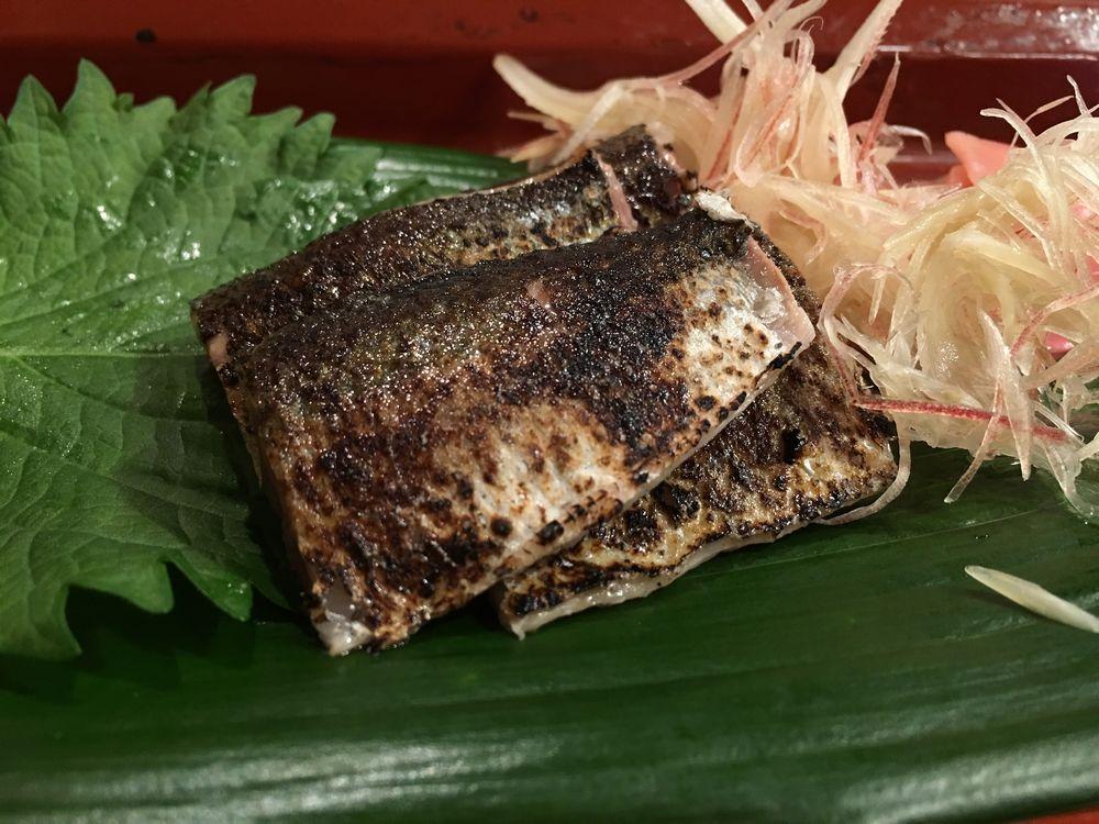寿司 花一のサンマの塩焼き