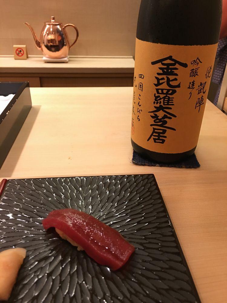 鮨舳のマグロ赤身