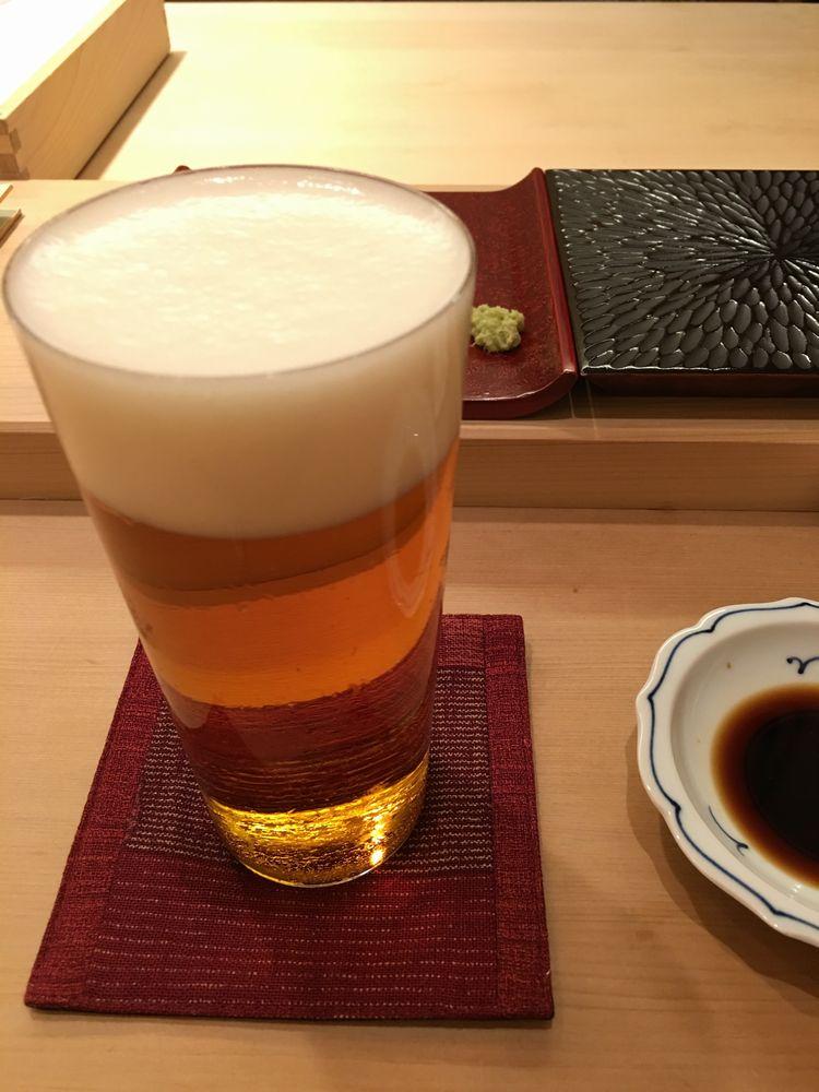 鮨舳の木村硝子のグラス