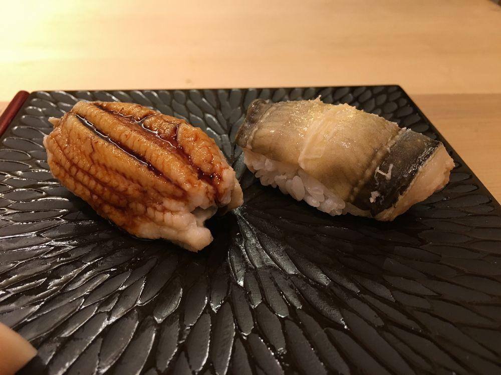 鮨舳の煮穴子(塩とタレ)