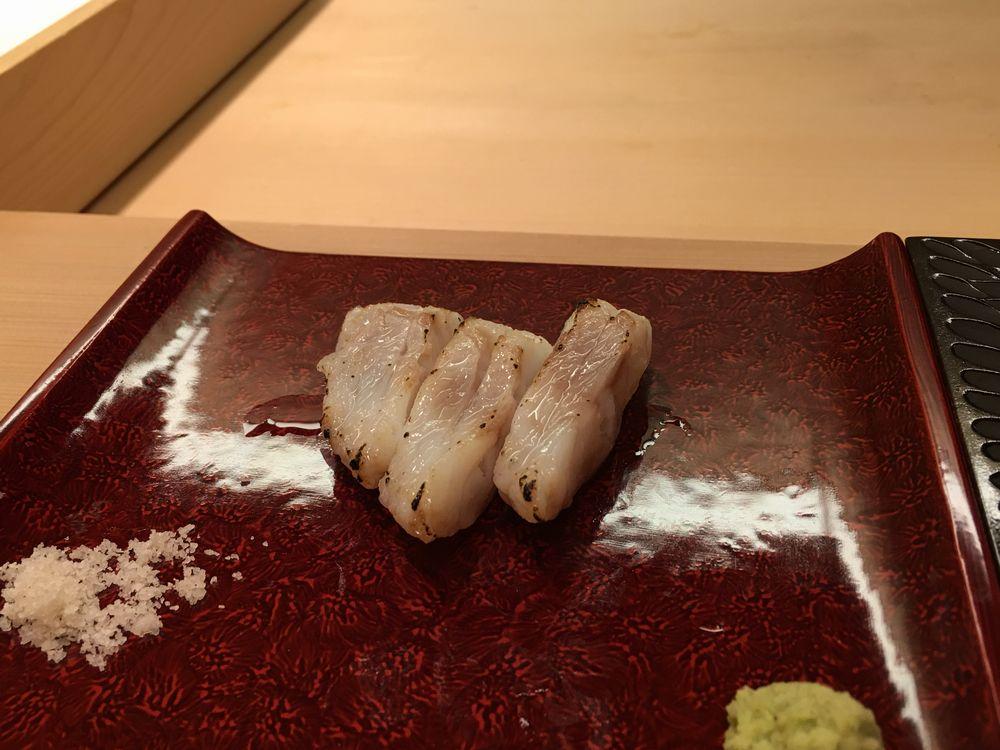 鮨舳の甘鯛の炙り