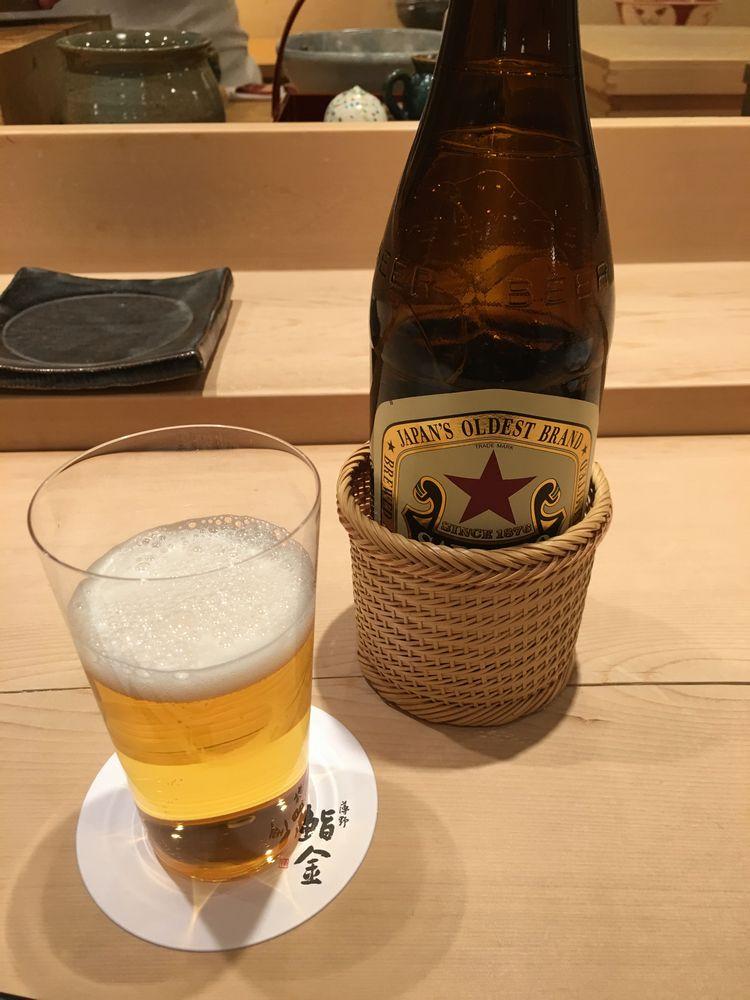 薄野 鮨金のビール