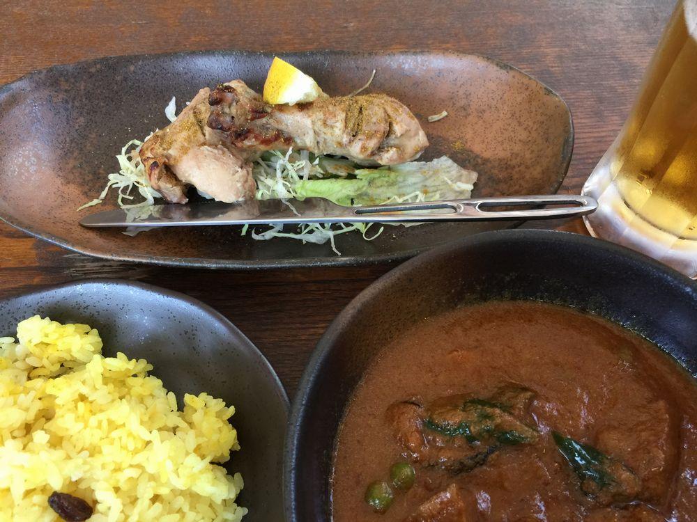 食堂インドのチキンサブジ