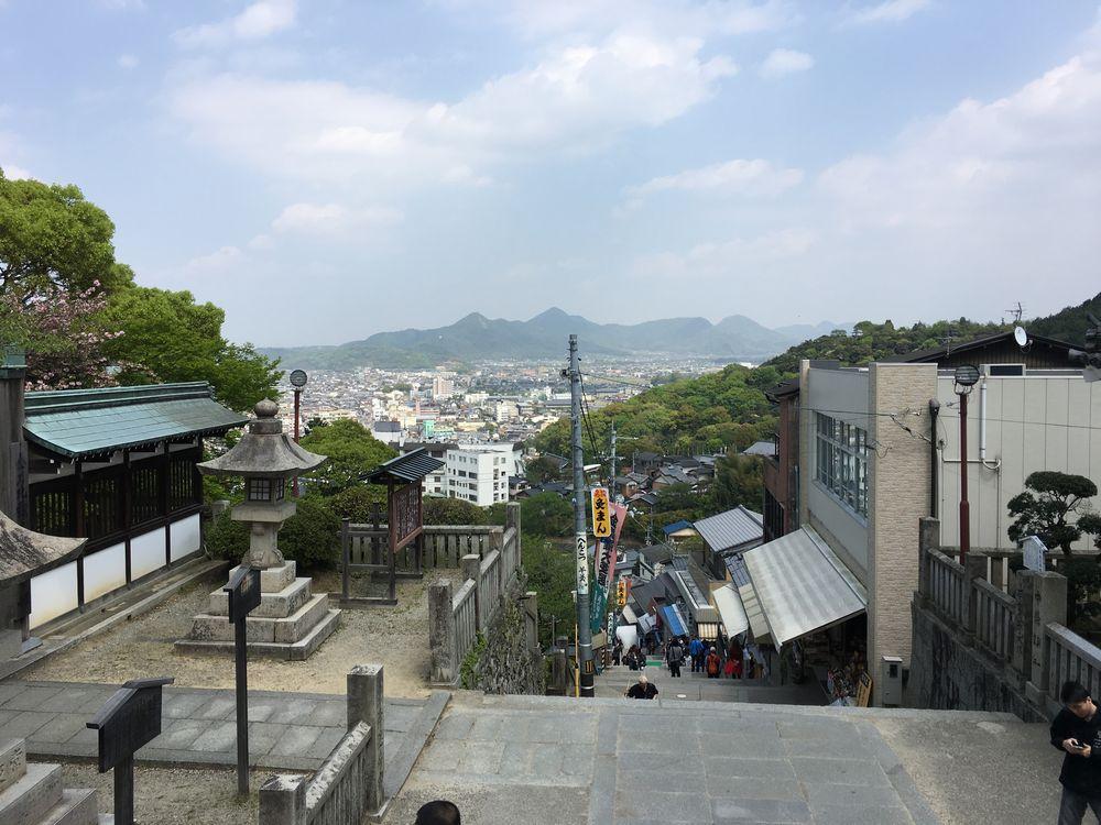 金刀比羅宮の大門からの眺め