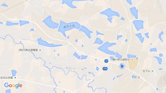 香川県のため池の地図