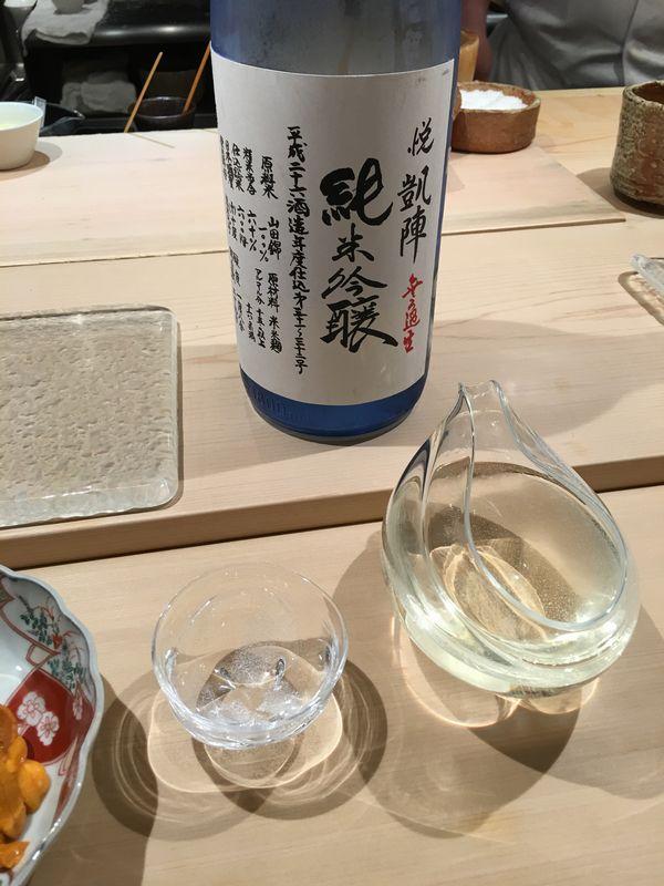 寿司 中川の凱陣 純米吟醸 無濾過生