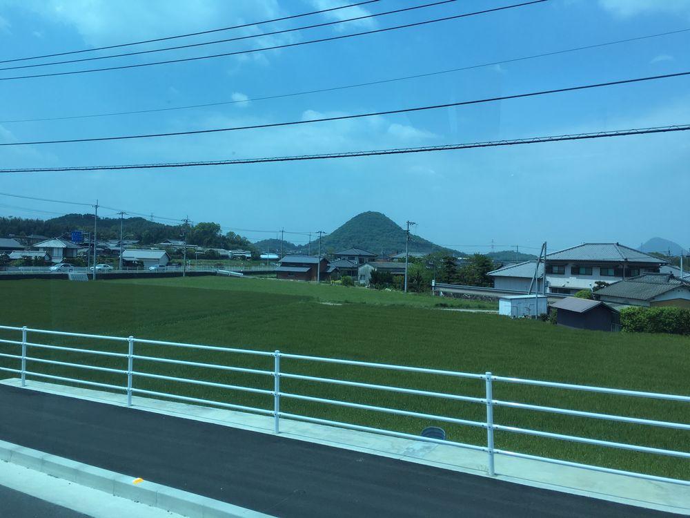 香川県の円錐形の山