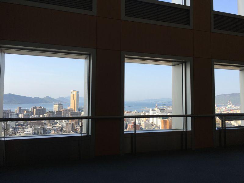香川県庁舎の展望室独占