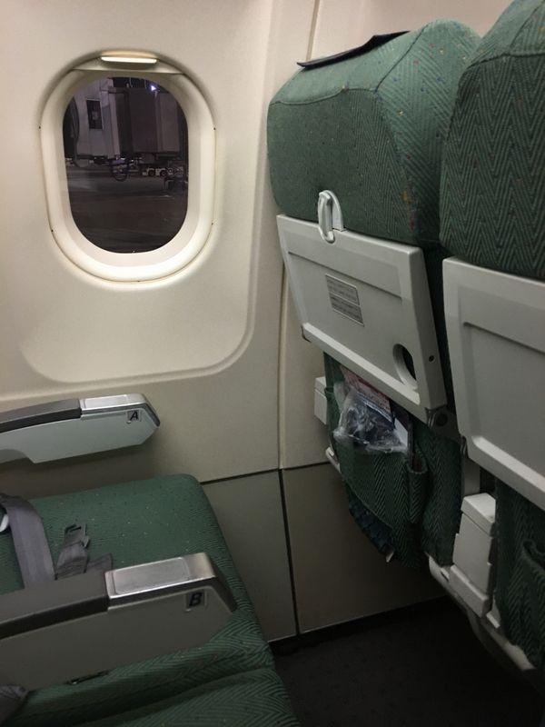 ANA540便の普通席の通路側